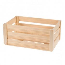 Średnia drewniana skrzynka z listewek
