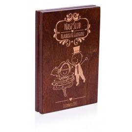 Drewniane pudełko na płyty...