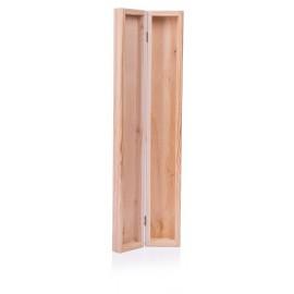 Naturalne drewniane pudełko na świeczkę decoupage