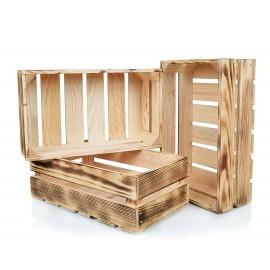 Opalana drewniana skrzynka
