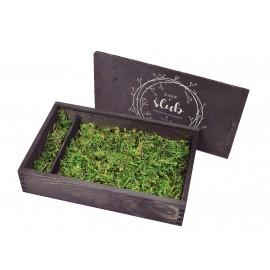 Drewniane pudełko na zdjęcia 21 x 15 w...