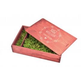 Drewniane pudełko na zdjęcia 15  x 10 w...