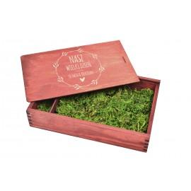 Drewniane pudełko na zdjęcia 18  x 13 w...