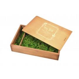 Drewniane pudełko na zdjęcia 21 x 15 jasny...