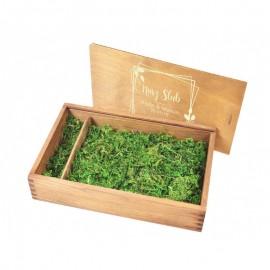 Drewniane pudełko na zdjęcia 18  x 13...