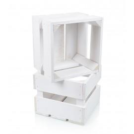 Kwadratowa skrzynka w kolorze białym