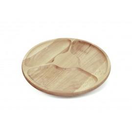 Półmisek dzielony drewniany talerz obrotowy