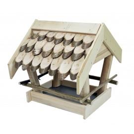Drewniany karmnik dla ptaków XL