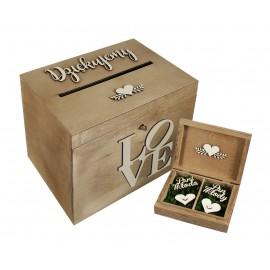 Rustykalne pudełko na koperty i obrączki...