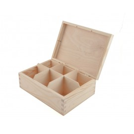 Drewniane PUDEŁKO na herbatę 6