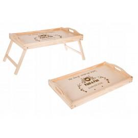 Stolik śniadaniowy do łóżka pod laptop  - Grawerowane prezenty i dodatki ślubne Grawernia24
