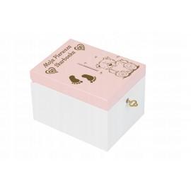 Drewniana skarbonka dziecko prezent XXL różowa - Grawerowane prezenty i dodatki ślubne Grawernia24