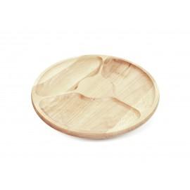 Półmisek dzielony drewniany talerz obrotowy - Grawerowane prezenty i dodatki ślubne Grawernia24