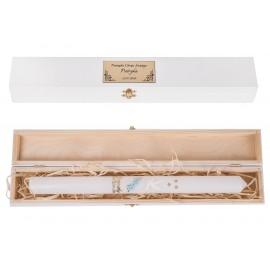 Pudełko na chrzest ze świeczką
