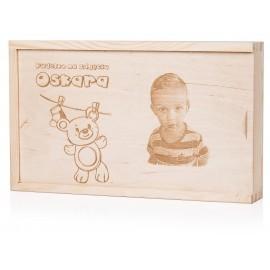 Drewniane pudełko na odbitki 21 x 15
