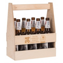 Drewniane nosidło na 8 piw