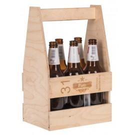 Drewniane nosidło na 6 piw