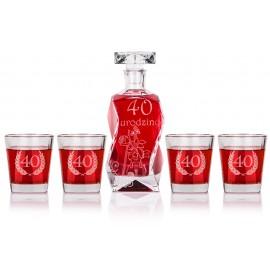 Zestaw do whisky z czterema szklankami
