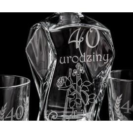 Zestaw do whisky z sześcioma szklankami - Grawerowane prezenty i dodatki ślubne Grawernia24