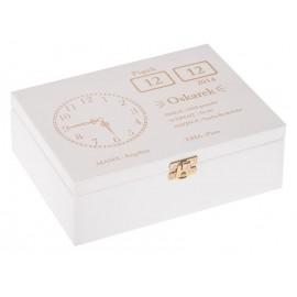 Biała metryczka pudełko wspomnień
