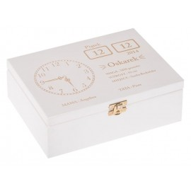 Biała metryczka pudełko...